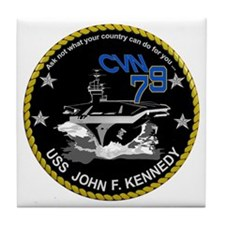 CVN 79 John F Kennedy Tile Coaster