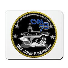 CVN 79 John F Kennedy Mousepad