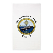 USS Gerald R. Ford CVN 78 3'x5' Area Rug