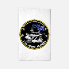 CVN 79 John F Kennedy Area Rug