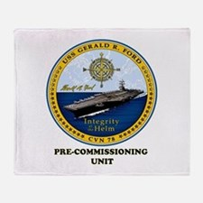 PCU 78 Gerald R. Ford Throw Blanket