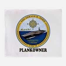 Ford Plank Owner Crest Throw Blanket