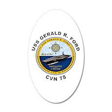 USS Gerald R. Ford CVN 78 Wall Decal
