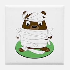 Mummy Bear Base Tile Coaster