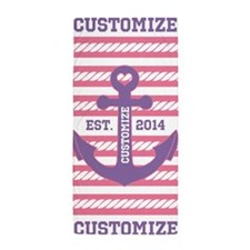Customized Nautical Anchor and Rope Beach Towel