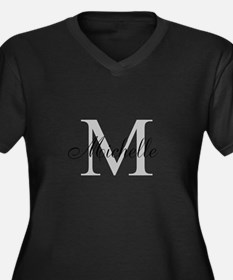 Personalized Monogram Name Plus Size T-Shirt