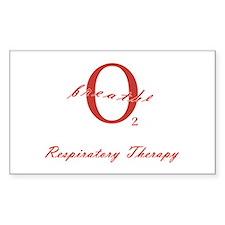 Respiratory Therapy - Athleti Sticker (Rectangular