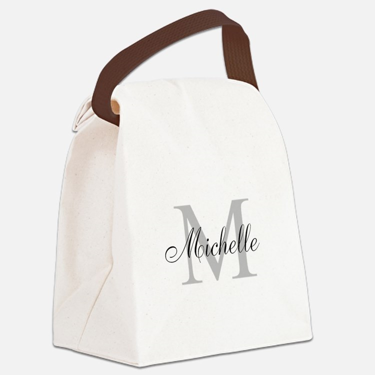 Personalized Monogram Name Canvas Lunch Bag