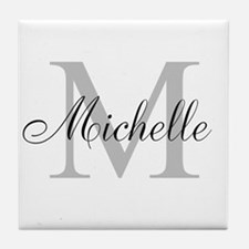 Personalized Monogram Name Tile Coaster