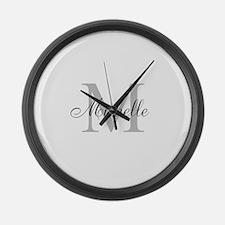 Personalized Monogram Name Large Wall Clock