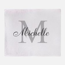 Personalized Monogram Name Throw Blanket