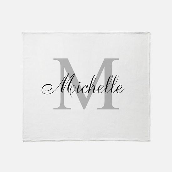 Personalized Monogram Name Throw Blanket