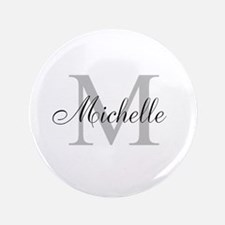 "Personalized Monogram Name 3.5"" Button"