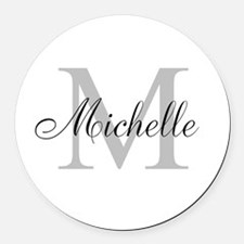 Personalized Monogram Name Round Car Magnet