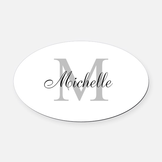 Personalized Monogram Name Oval Car Magnet