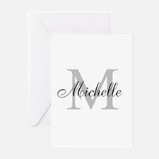 Personalized Monogram Name Greeting Cards