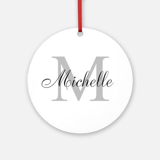 Personalized Monogram Name Ornament (Round)