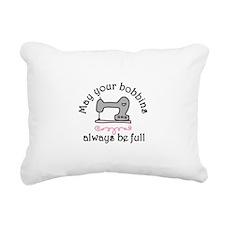 May Your Bobbins Rectangular Canvas Pillow