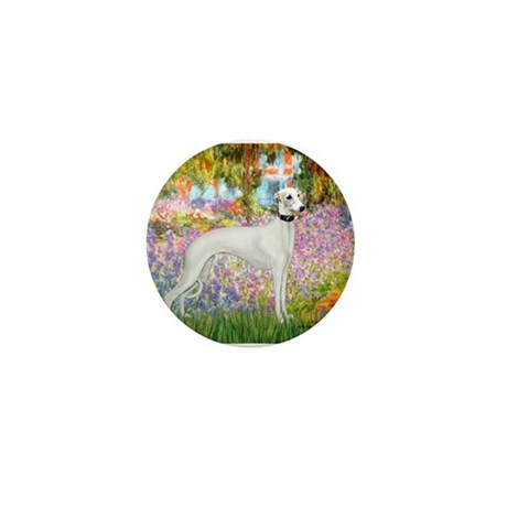 Whippet in Monet's Garden Mini Button
