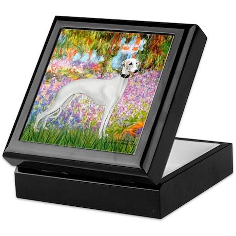 Whippet in Monet's Garden Keepsake Box