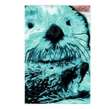 Bright aqua mint Sea Otte Postcards (Package of 8)