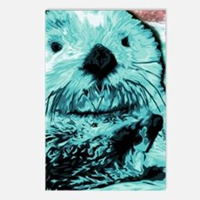 Bright aqua mint Sea Otte Postcards (Package of 8)