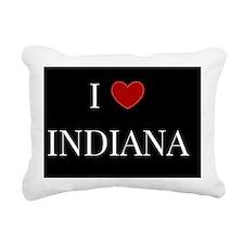 I Love Indiana Rectangular Canvas Pillow