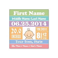 Personalize Baby Birth Stats Sticker