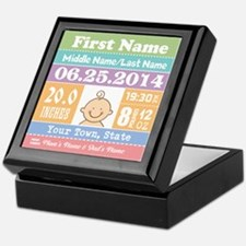 Personalize Baby Birth Stats Keepsake Box