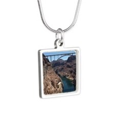 Hoover Dam Silver Square Necklace
