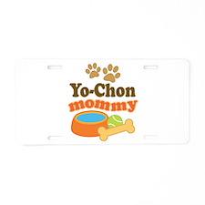 Yo-chon mom Aluminum License Plate