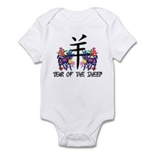 Chinese Zodiac Sign Sheep Infant Bodysuit