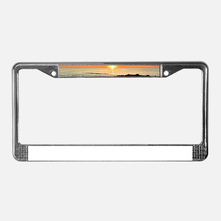 SERENE SUNRISE License Plate Frame