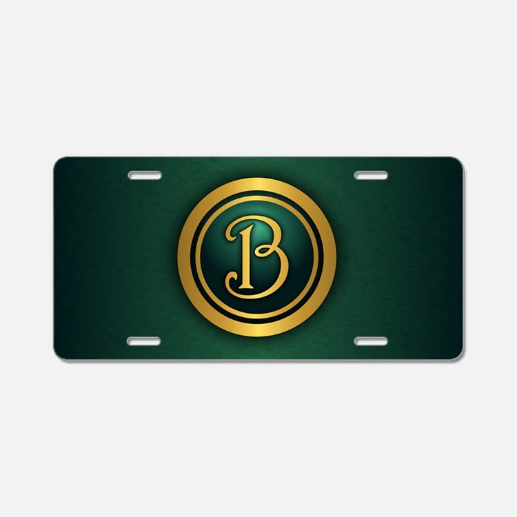 Irish Luck B Aluminum License Plate