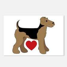 Airedale Terrier Love Postcards (Package of 8)