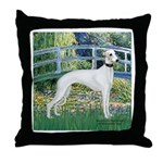 Bridge & Whippet Throw Pillow