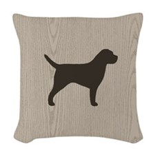 Border Terrier Woven Throw Pillow