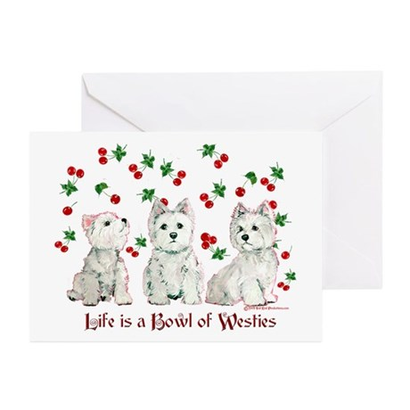 Bowl of WestHighlands Greeting Cards (Pk of 10