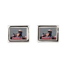 Kart Racing Rectangular Cufflinks