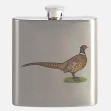 Proud Ringneck Pheasant Flask