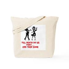 Zombie Wedding Couple Tote Bag