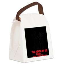 Zombie Wedding Couple Canvas Lunch Bag