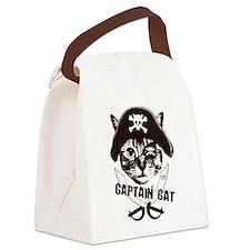 Captain Cat Canvas Lunch Bag