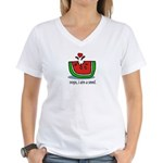 Oops! I ate a seed! Women's V-Neck T-Shirt