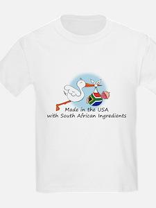 Stork Baby South Africa USA T-Shirt