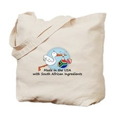 Stork Baby South Africa USA Tote Bag