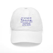 rather be racing with dad2.png Baseball Baseball Cap