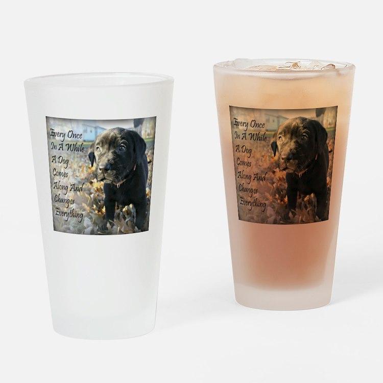 Puppy Change Drinking Glass