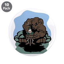 """Don't Feed the Bears 3.5"""" Button (10 pack)"""