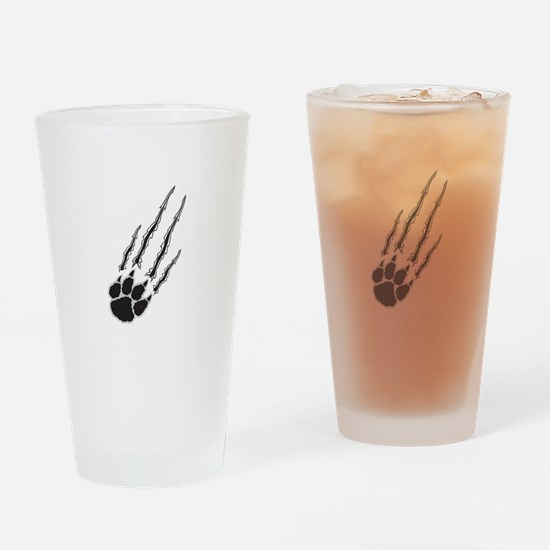 Bear Paw Rip Drinking Glass
